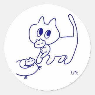 Catcatcat Lita Classic Round Sticker