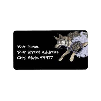 Catch a Dream, Dreamcatcher Wolf~ adress labels