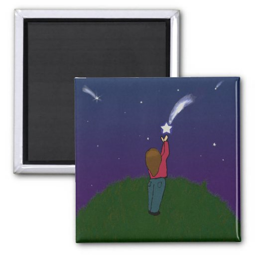 Catch a Falling Star 2 Inch Square Magnet