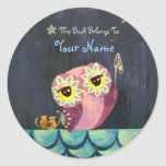 Catch A Falling Star - This Book Belongs To Classic Round Sticker