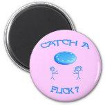 Catch A Flick Frisbee Fridge Magnets