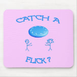 Catch A Flick Frisbee Mouse Pad