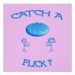 Catch A Flick Frisbee Poster