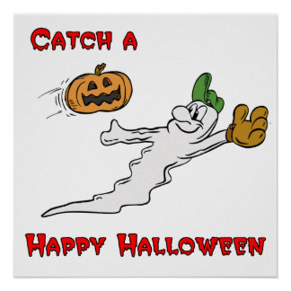 Catch a Happy Halloween Posters