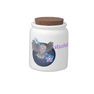 Catch a Star~stardust owl jar Candy Dishes