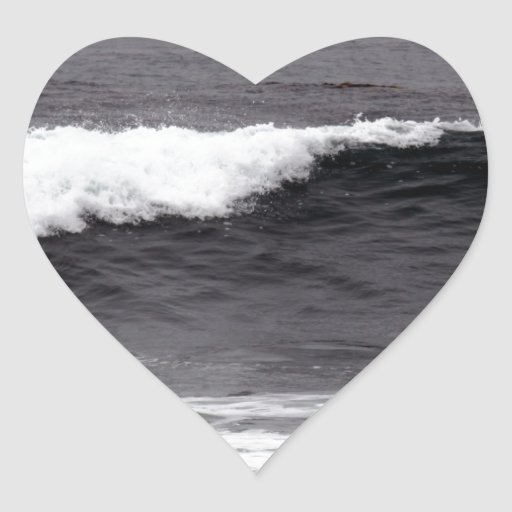 Catch a wave heart stickers