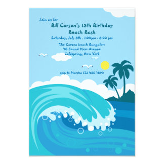 Catch A Wave Invitation