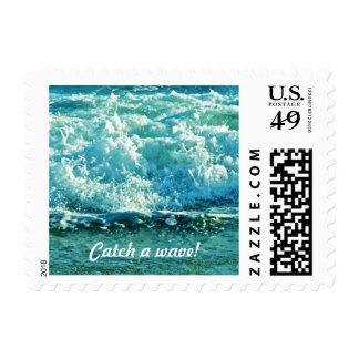 Catch a Wave Postage Stamp