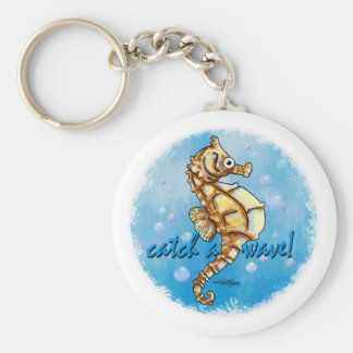 Catch a Wave Seahorse keychain