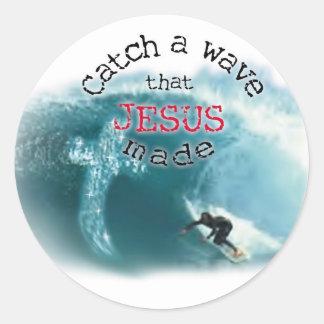 Catch a Wave Classic Round Sticker