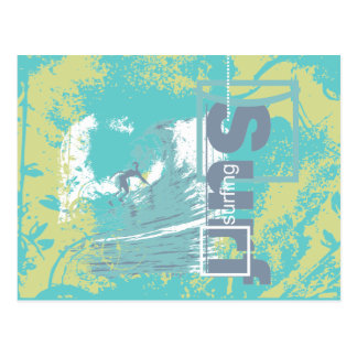 Catch a Wave Surfing Tshirts and Gifts Postcard