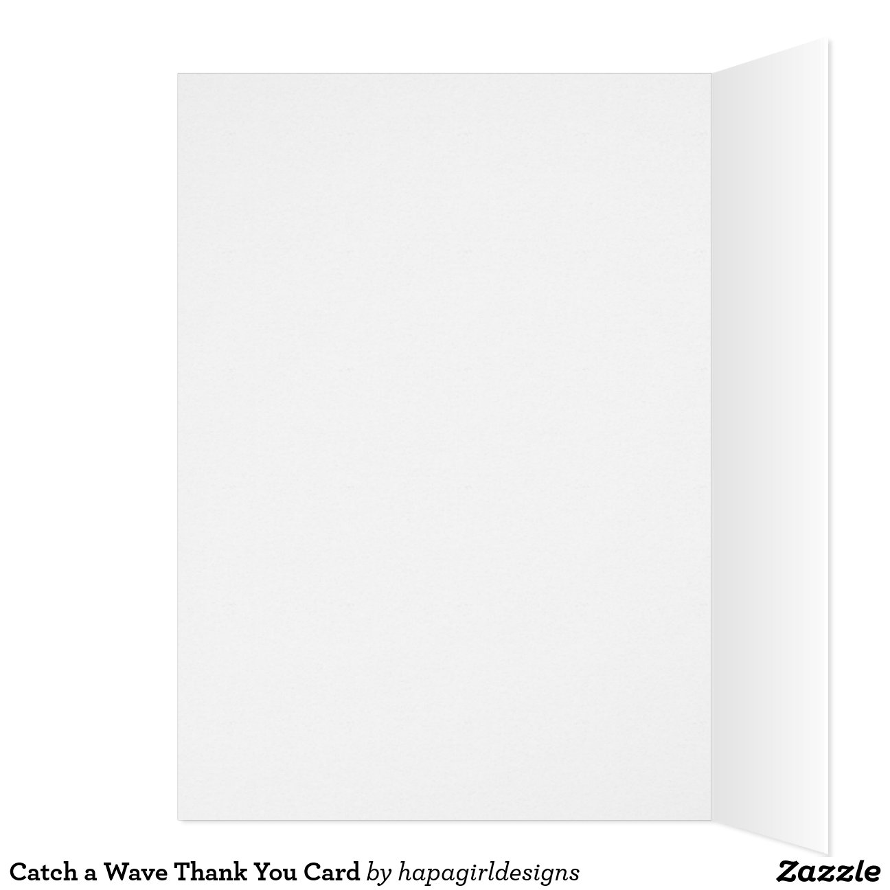 catch a wave thank you card simple wave design