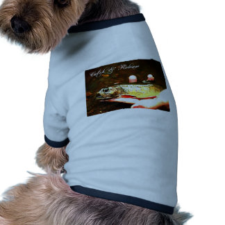 Catch and Release Brook Trout Dog Shirt