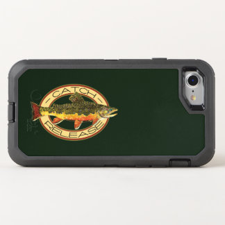 Catch and Release Brook Trout Fishing OtterBox Defender iPhone 8/7 Case