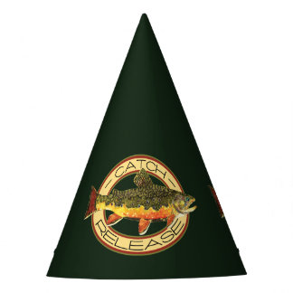 Catch and Release Brook Trout Fishing Party Hat