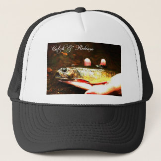 Catch and Release Brook Trout Trucker Hat