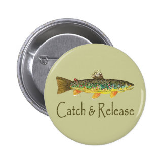 Catch and Release Fishing 2 Inch Round Button