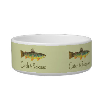 Catch and Release Fishing Cat Bowls