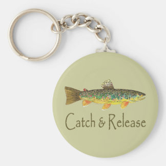Catch and Release Fishing Keychain