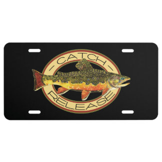 Catch and Release Fishing License Plate