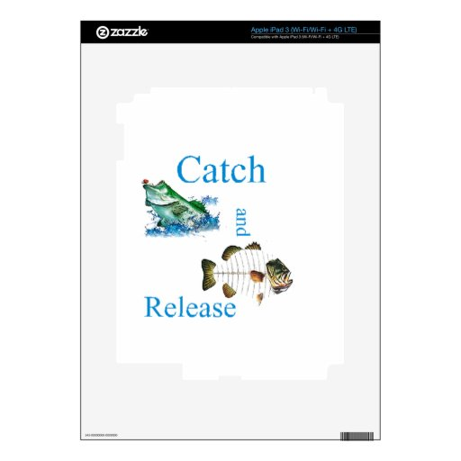 Catch and release fishing iPad 3 decals
