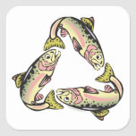 Catch and Release Fishing Square Stickers