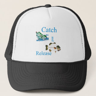 Catch and release fishing trucker hat
