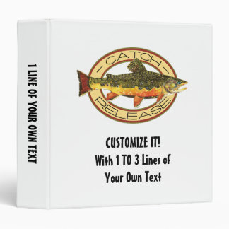 Catch and Release Fishing Vinyl Binder