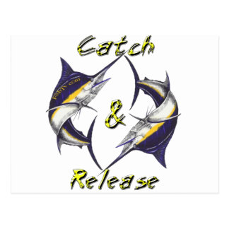 Catch and Release Marlins Postcard