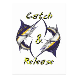 Catch and Release Marlins Post Cards