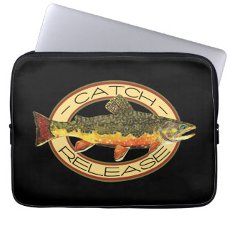 Catch and Release Trout Fishing Computer Sleeve