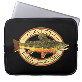 Catch and Release Trout Fishing Laptop Computer Sleeve