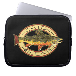Catch and Release Trout Fishing Laptop Sleeves