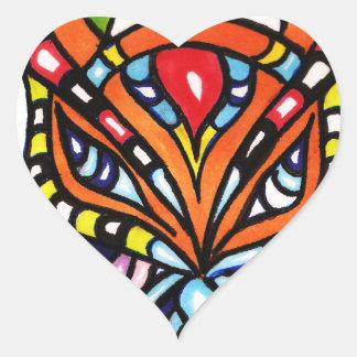 Catch dis Art Heart Sticker