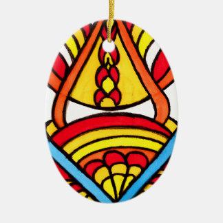 Catch dis Chi Ceramic Ornament