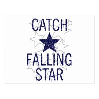 catch falling star postcard