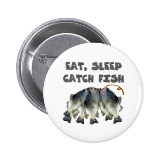 catch fish pinback button