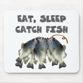 catch fish mouse pad