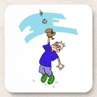 Catch fly ball drink coaster