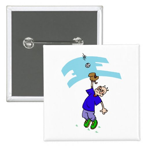 Catch fly ball pinback buttons