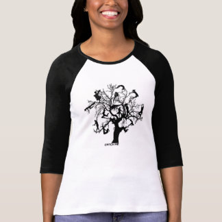 Catch me people tree Raglan T-Shirt, White/Black T-Shirt