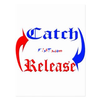 Catch n Release in Blue/Red Post Cards
