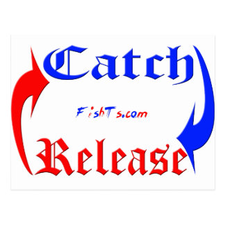 Catch n Release in Blue/Red Postcards