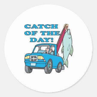 Catch Of The Day 2 Round Sticker