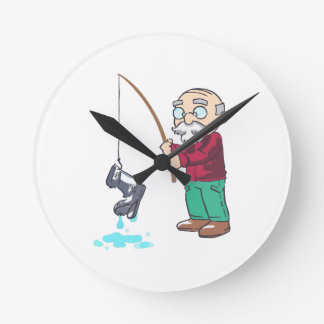 CATCH OF THE DAY ROUND WALL CLOCK