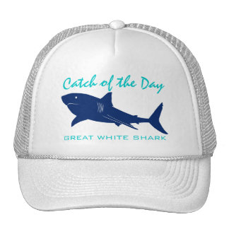 Catch of the Day - Great White Shark Fishing Hat