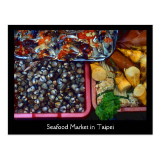 Catch of the Day Seafood Market Taipei, Taiwan Postcard