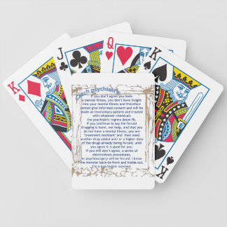 Catch psychiatric bicycle playing cards