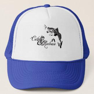 Catch & release bass fishing t shirt trucker hat