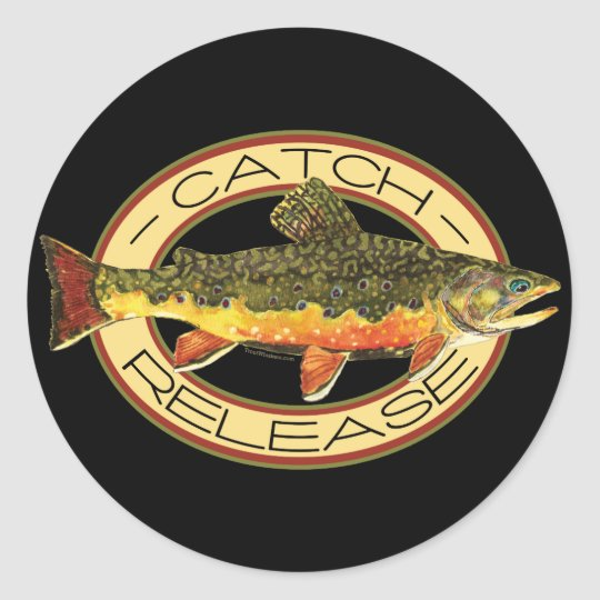 Catch & Release Fishing Classic Round Sticker